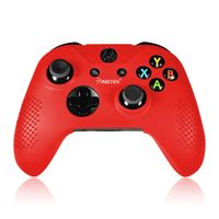 Silicone Skin Case compatible with Microsoft Xbox One Controller, Red
