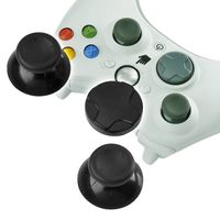 Controller Thumb Joysticks  compatible with Microsoft Xbox 360 Slim, Black