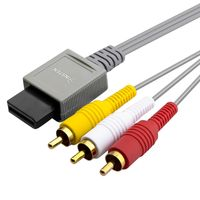 AV Composite Cable  compatible with Nintendo Wii