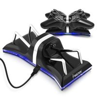 Dual Controller Charging Station  compatible with Sony PlayStation 3 (PS3), Black