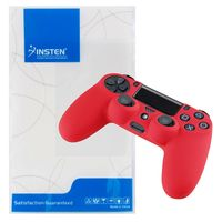 Silicone Skin Case compatible with Sony PlayStation 4 (PS4) Controller, Red