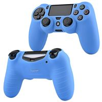 Silicone Skin Case compatible with Sony PlayStation 4 (PS4) Controller, Blue