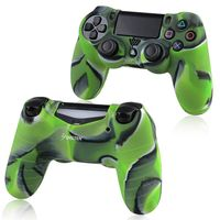 Silicone Skin Case compatible with Sony PlayStation 4 Controller, Camouflage Navy Green