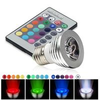 E27 3W RGB 16 Color LED Bulb, IR Remote Control