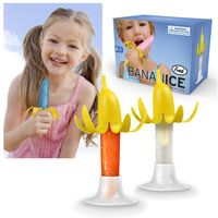 Fred & Friends Banana Plastic Ice Pop Mold with Silicone Peel
