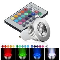 GU10 3W RGB 16 Color LED Bulb, IR Remote Control