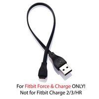 USB Charging Cable compatible with Fitbit Force, Black