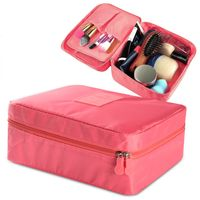 Travel Cosmetic Bag, Coral
