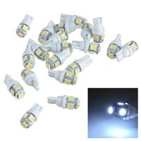 20-piece pack 12V T10 5-SMD 5050 LED, White