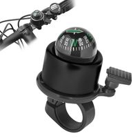 Bicycle Mini Bell with Ball Compass, Black