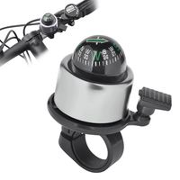 Bicycle Mini Bell with Ball Compass, Silver