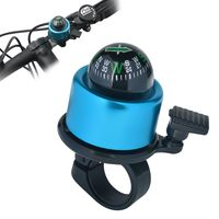 Bicycle Mini Bell with Ball Compass, Blue