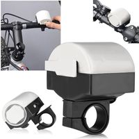 Electronic Bicycle Alarm Bell, White
