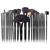 24-piece Set Makeup Brushes with Pouch Bag, Black