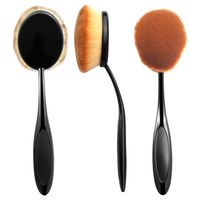 Oval Makeup Brush, Black/Brown, Large Head