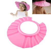 Adjustable Baby EVA Shampoo Bathing Shower Cap, Pink