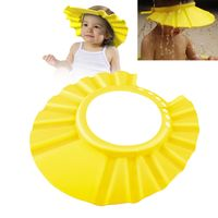 Adjustable Baby EVA Shampoo Bathing Shower Cap, Yellow