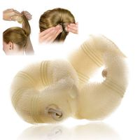 2-piece Set Hair Styling Donut Bun Maker, Beige