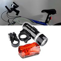 Bicycle Front Head Light and Rear Lamp , 5 LED