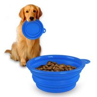 Collapsible Pet Feeding Bowl, Blue