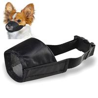 Size 1 Fabric Dog Muzzle, Black