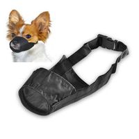 Size 4 Fabric Dog Muzzle, Black