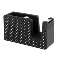 Soft Touch Tape Dispenser, Black with White Dots