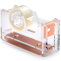 Acrylic Tape Dispenser, Clear/Rose Gold