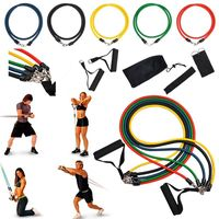 11-piece set Exercise Fitness Resistance Workout Bands