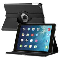 360-degree Swivel Leather Case  compatible with Apple® iPad® Air, Black