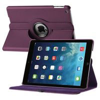 360-degree Swivel Leather Case  compatible with Apple® iPad® Air, Purple