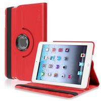 360-degree Swivel Stand  Leather Case  compatible with Apple® iPad® mini, Red