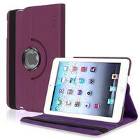 360-degree Swivel Stand Leather Case  compatible with Apple® iPad® mini, Purple
