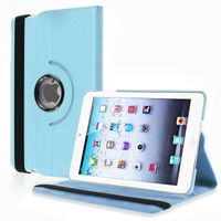 360-degree Swivel Stand Leather Case  compatible with Apple® iPad® mini, Blue