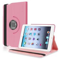 360-degree Swivel Stand Leather Case  compatible with Apple® iPad® mini, Pink