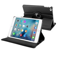 360-degree Swivel Leather Case compatible with Apple iPad Mini 4, Black