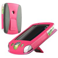 Leather Case  compatible with LeapFrog® LeapPad 2, Black/ Pink
