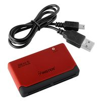 26-In-1 Memory Card Reader compatible with HP G6-1263sa, Black/ Red