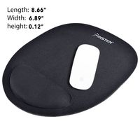 Wrist Comfort Mouse Pad For Optical/ Trackball Mouse , Black
