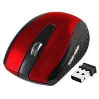2.4G Cordless Wireless Optical Mouse , Red