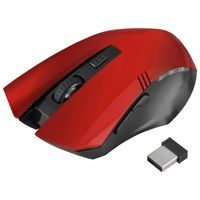 2.4G Wireless Optical 6D Button Game Mouse, Red