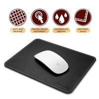 Leather Mouse Pad, Black