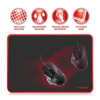 Gaming Mouse Pad, Black/Red