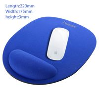 Wrist Comfort Mouse Pad For Optical / Trackball Mouse, Blue