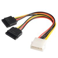 4 pin Molex connecter to 2 Serial ATA Power Splitter Cable