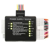 20 / 24-pin Power Supply Tester compatible with ATX / SATA / HDD, Black