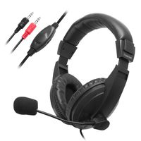 VOIP / SKYPE Hands-free Headset with Microphone compatible with NEC LaVie L Model LL700/5D, Black