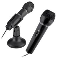 3.5mm Studio Speech Microphone with Stand, Black