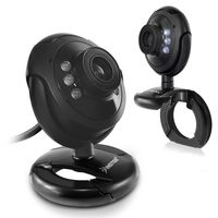 16.0 Mega Pixel USB Digital LED Webcam with Mic, Black Round