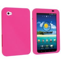 Silicone Skin Case Compatible with Samsung© Galaxy Tab P1000, Hot Pink
